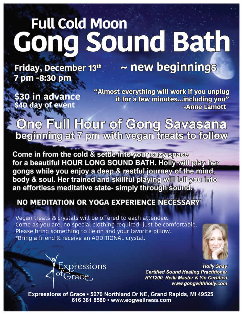 Full Cold Moon Gong Sound Bath