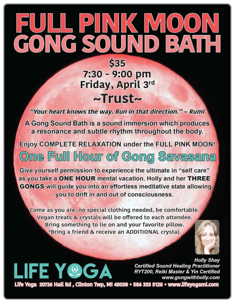 Full Pink Moon Gong Sound Bath